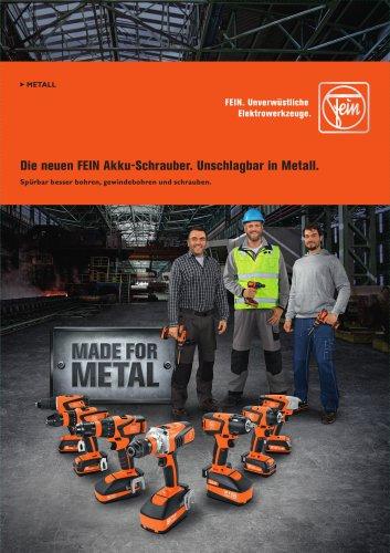Die neuen FEIN Akku-Schrauber. Unschlagbar in Metall.