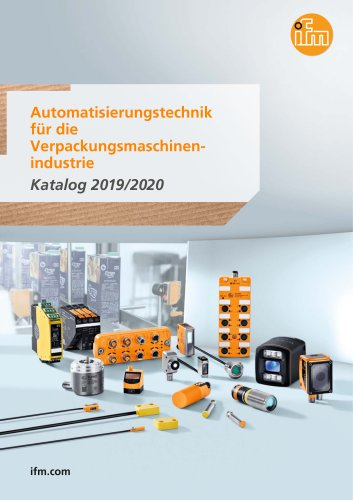 Automatisierungstechnik für die Verpackungsmaschinenindustrie Katalog 2019/2020