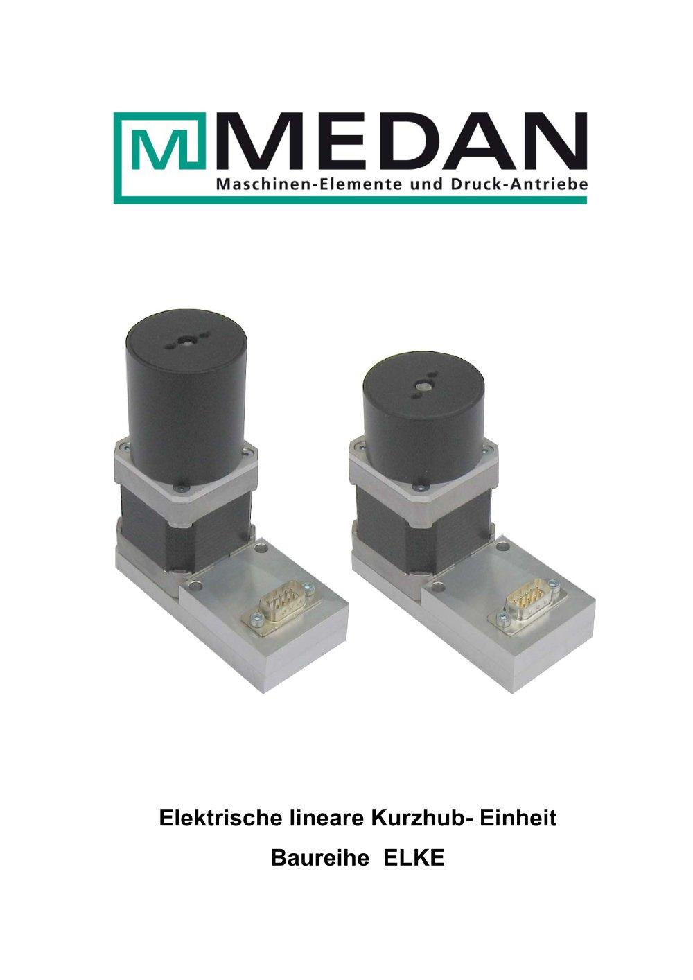Elektrische lineare Kurzhub- Einheit Baureihe ELKE - MEDAN - PDF ...