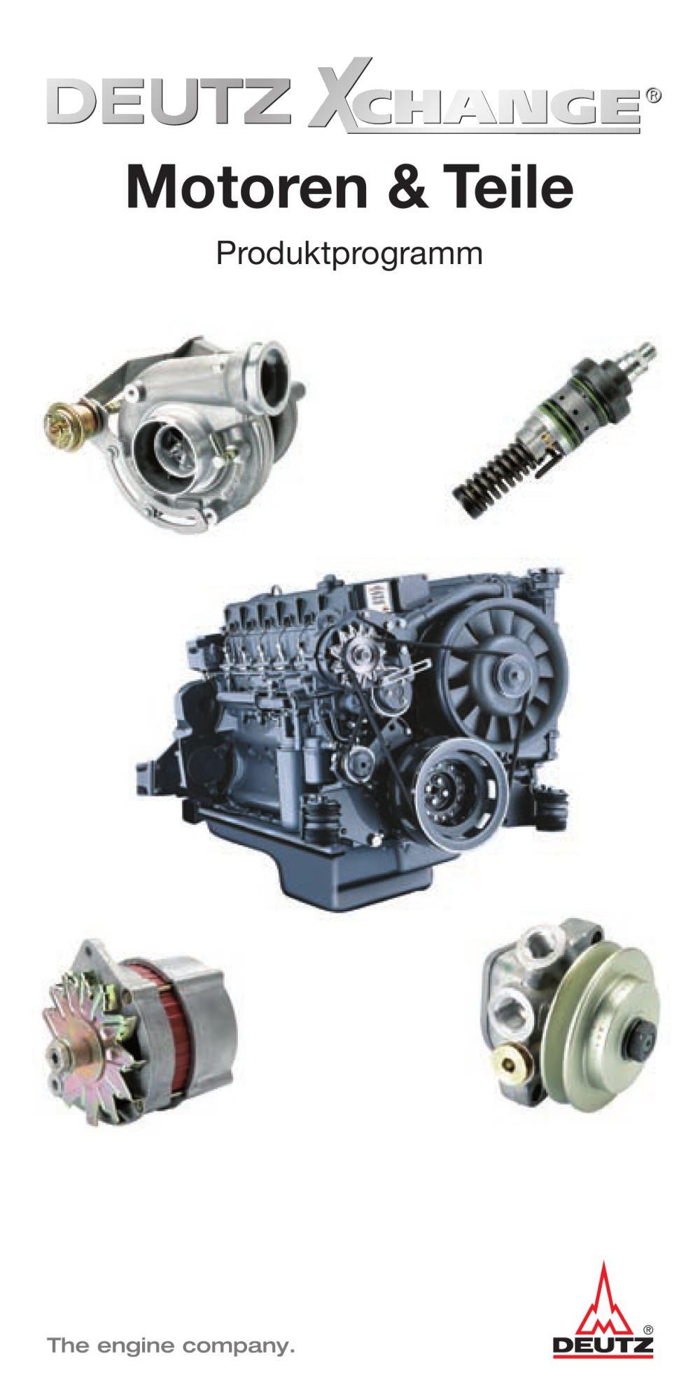 Xchange Motoren u. Teile - DEUTZ - PDF Katalog | technische ...