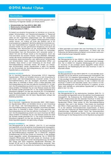Stromverteilungssysteme Modul 17plus
