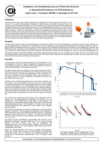 CITSens Bio Application Note Schuettler TFlaschen