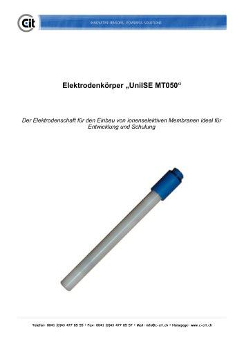 CITSensIon Elektrodenkörper UniISE MT050 Produktkatalog