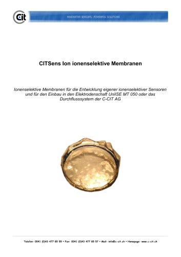 CITSensIon Ionenselektive Membranen Produktkatalog