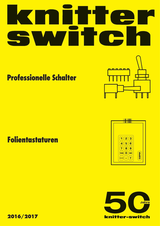 katalog Professionelle Schalter - KNITTER SWITCH - PDF Katalog ...