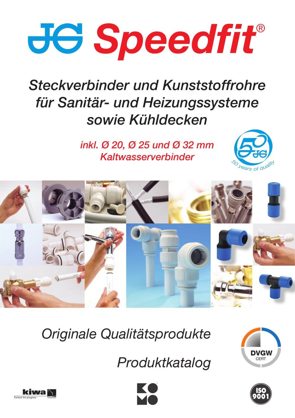 Steckverbinder und Kunststoffrohre für Sanitär- und Heizungssysteme ...