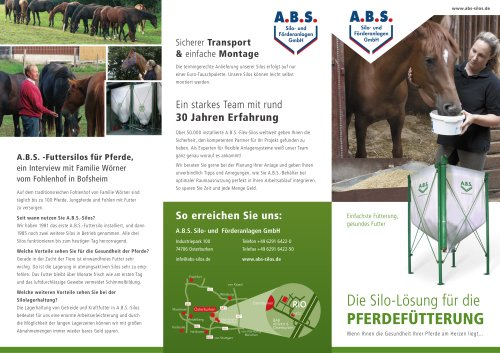 Lagerung von Pferdefutter