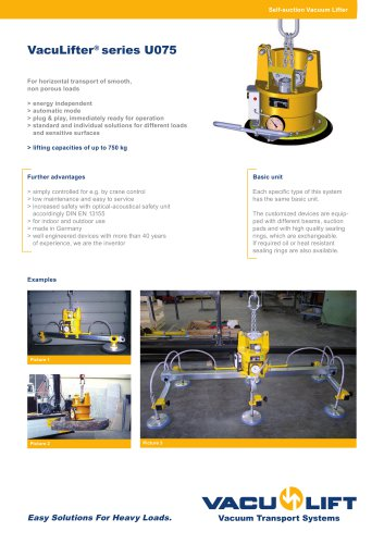 the self-suction VACU-LIFTER U075