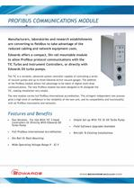 Profibus Communications Module Datasheet
