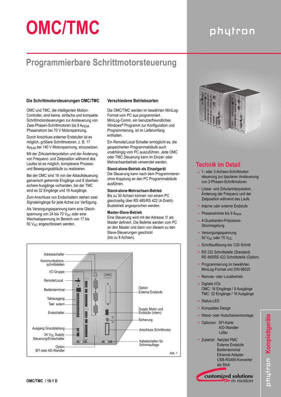 OMC/TMC - Phytron GmbH - PDF Katalog | technische Unterlagen | Prospekt