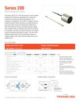 Series 200 Specs  Linear (LVDT) Displacement Transducers