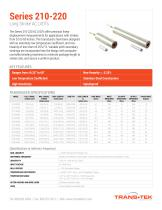 Series 210-220 Specs Linear (LVDT) Displacement Transducers
