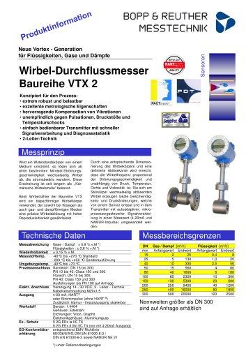 Wirbel-Durchflussmesser Baureihe VTX 2 - Bopp & Reuther Messtechnik ...