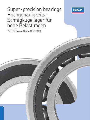 Super-precision bearings Hochgenauigkeits-Schrägkugellager für hohe Belastungen