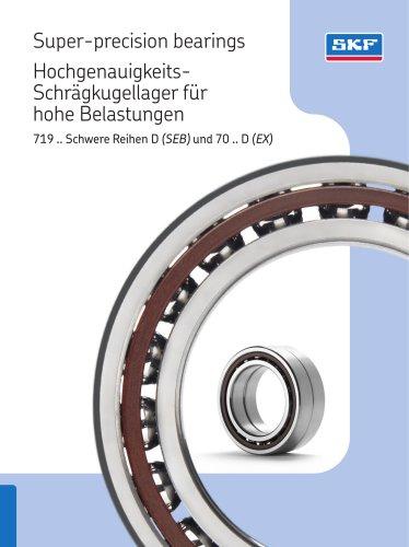 Super-precision bearings Hochgenauigkeits- Schrägkugellager für hohe Belastungen