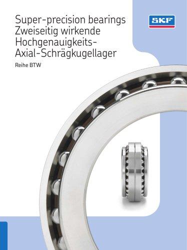 Super-precision bearings Zweiseitig wirkende Hochgenauigkeits-Axial-Schrägkugellager Reihe BTW