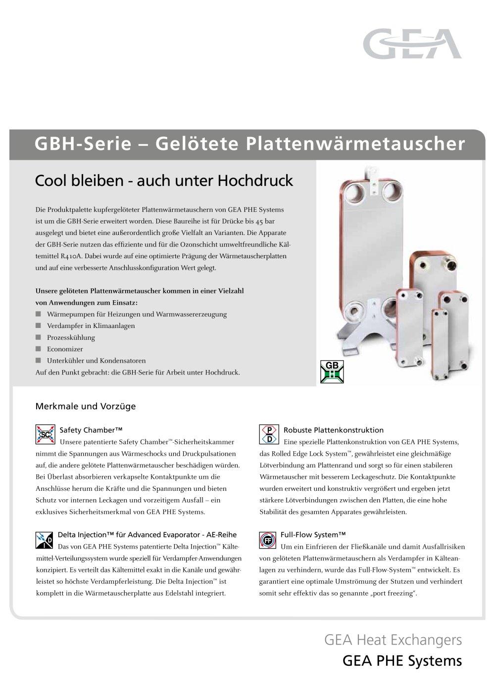 GBH-Serie ? Gelötete Plattenwärmetauscher - Ecoflex - PDF Katalog ...
