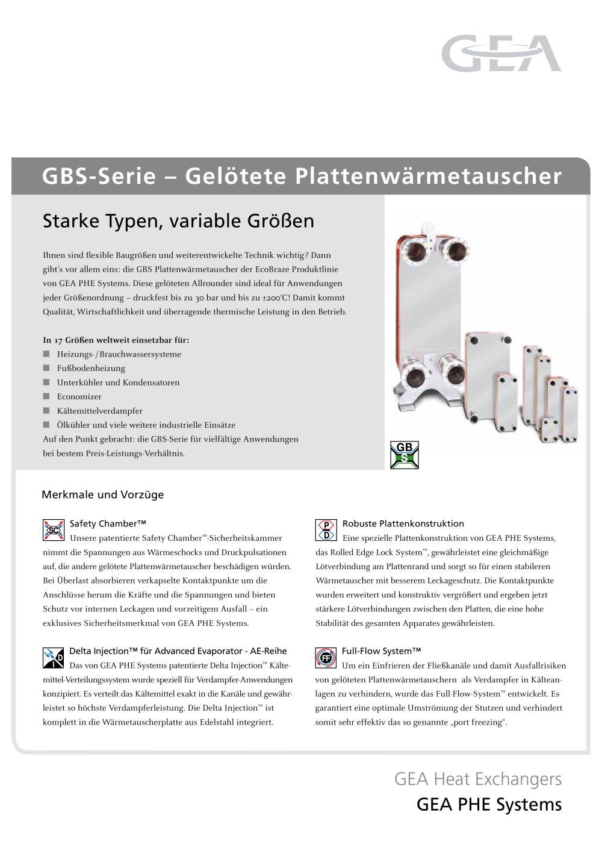 GBS-Serie ? Gelötete Plattenwärmetauscher - Ecoflex - PDF Katalog ...
