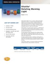 121S Vitalite� Rotating Warning Light