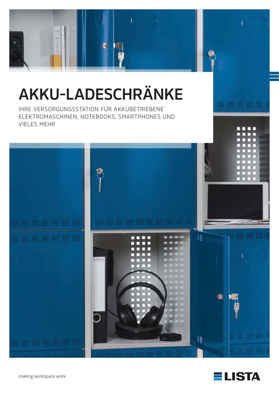Batterielade-Schränke - LISTA - PDF Katalog | technische Unterlagen ...