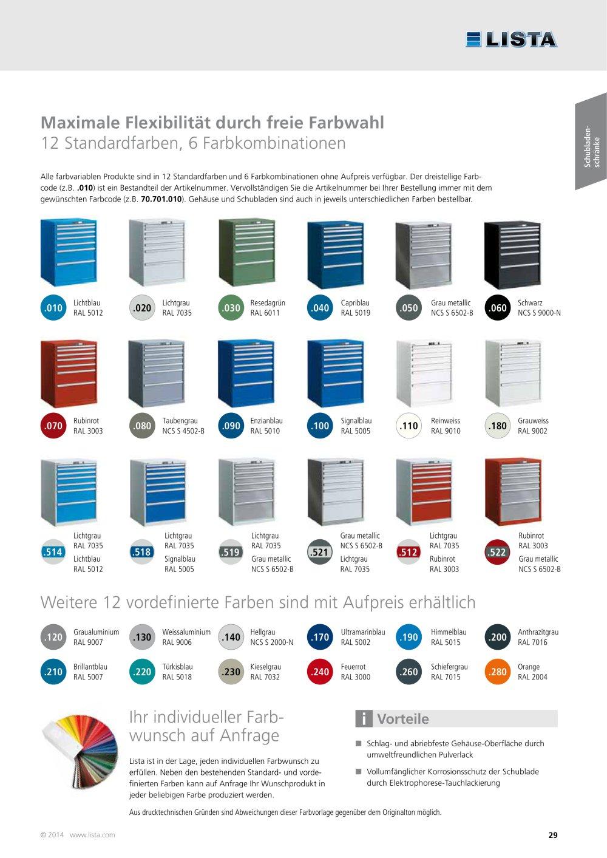 Farben - LISTA - PDF Katalog | technische Unterlagen | Prospekt