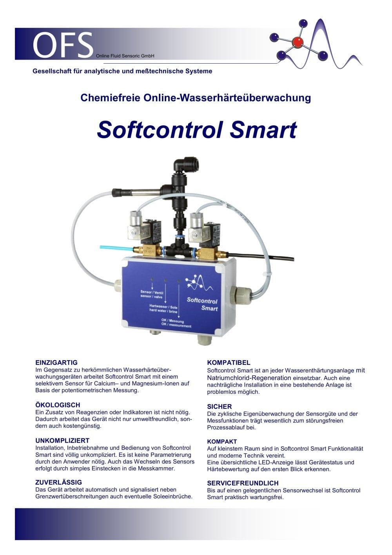 Online Wasserhärteüberwachung SC Smart - OFS Online Fluid Sensoric ...