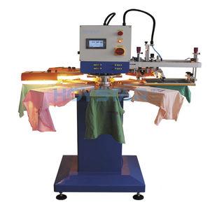automatische Siebdruckmaschine / 2-Farben / Textilien / für Kunststoffverschlüsse