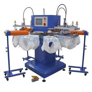 servogesteuerte Siebdruckmaschine / 4-Farben / Textilien / für Kunststoffverschlüsse