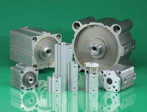 pneumatischer Zylinder / hydraulisch / doppeltwirkend / kompakt