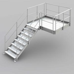 Außenbereich-Treppe / Metall