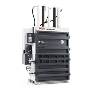 vertikale Ballenpresse / Frontlader / Karton / für Kunststoffe