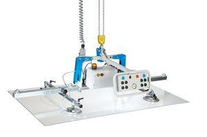 Vakuum-Hebegerät / für Glasplatten / für Blech / für Holzplatten / für Steinplatten