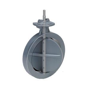 Absperrklappe / Durchsatzkontrolle / für Gas / für Luft
