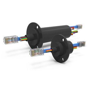 Schleifring zur Leistungs- und Signalübertragung / Ethernet / Gigabit-Ethernet / Kapsel