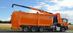 Frontlader-Müllwagen