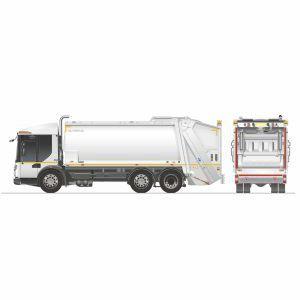 Hecklader-Müllwagen