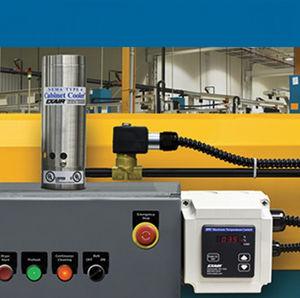 Druckluftkühler / für Industrieanwendungen / für Schränke / mit Vortex-Schlauch