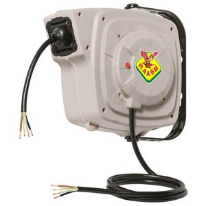 Aufwickler für Elektrokabel / einziehbar / feststehend / drehbarer