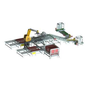 Verpackungsanlage für Lebensmittel / für die Lebensmittelindustrie / Getränke / für Kisten
