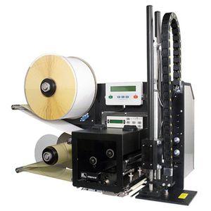 selbstklebender Drucker mit Etikettenaufbringer
