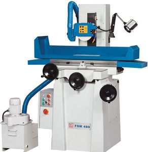 Schleifmaschine mit Senkrechtschleifscheibe