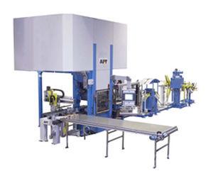 hydraulische Pressenstraße / Umform / Ausschneid / zur Herstellung von Wärmetauscherplatten