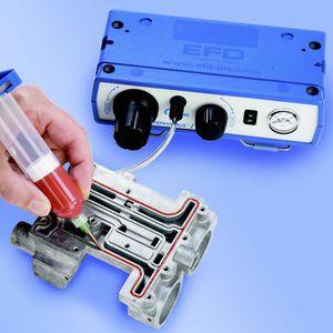 Spritze-Dosiergerät / Öl / Klebstoff / für Silikon