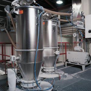 Vakuumvorlage für pneumatische Förderung
