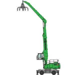 Umschlagmaschine auf Rollen / Diesel / hydraulisch