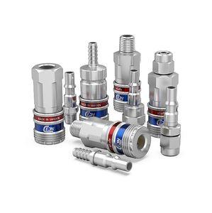 Schnellkupplung / gerade / pneumatisch / verzinkter Stahl