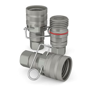 Schnellkupplung / gerade / hydraulisch / NBR