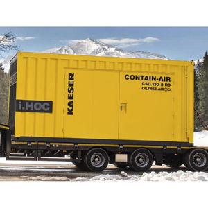 Kompressor in Container-Ummantelung