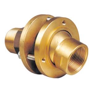Flanschanschluss / gerade / hydraulisch / Messing