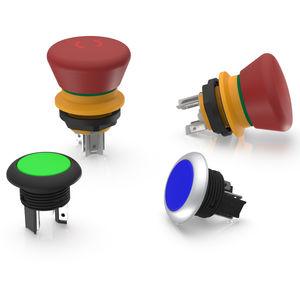 Pilzdrucktaster / Not-Halt / LED beleuchtet / für Schalttafeleinbau